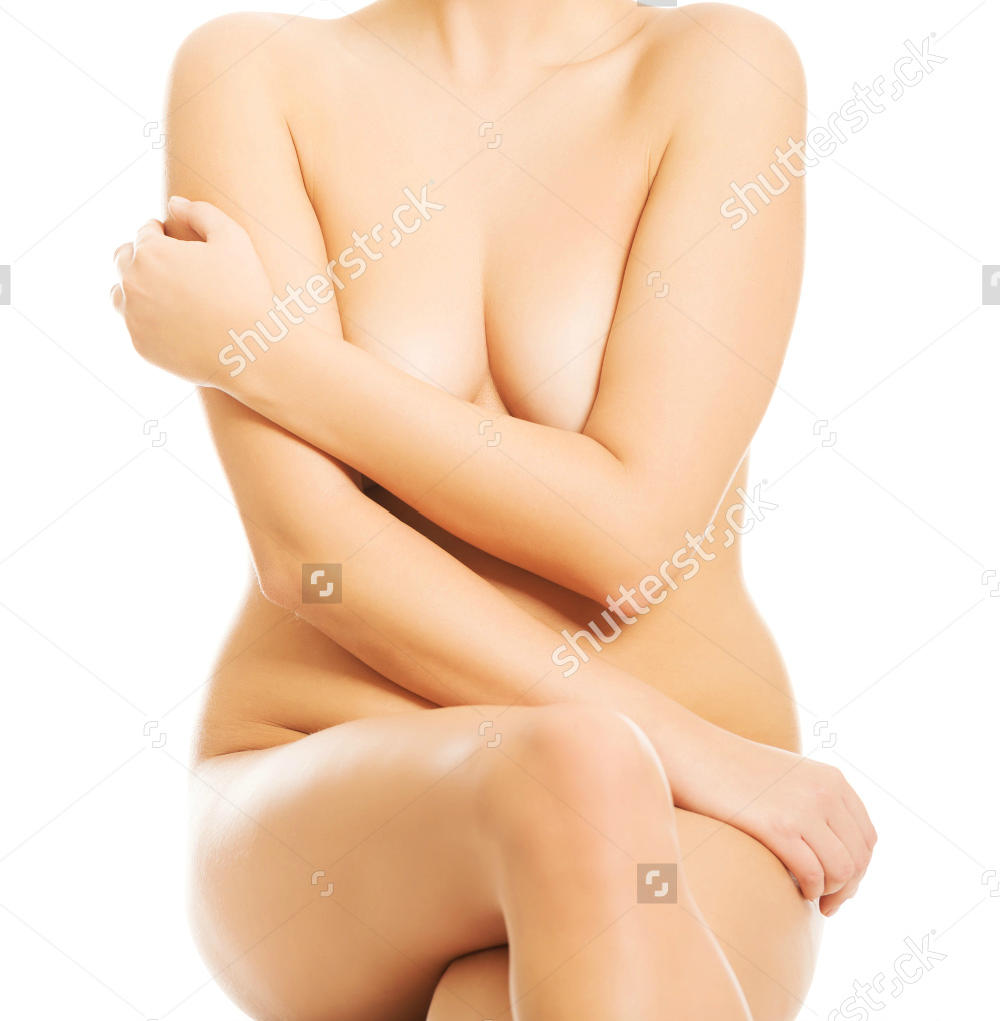 Nude Woman Sitting On Something Invisible Putting Arm On Breasts 2.png