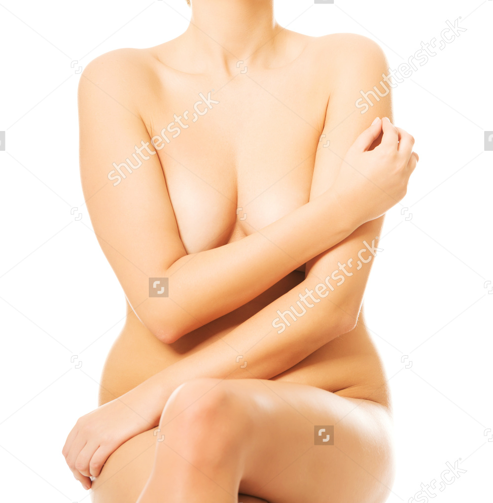 Nude Woman Sitting On Something Invisible Putting Arm On Breasts 3.png