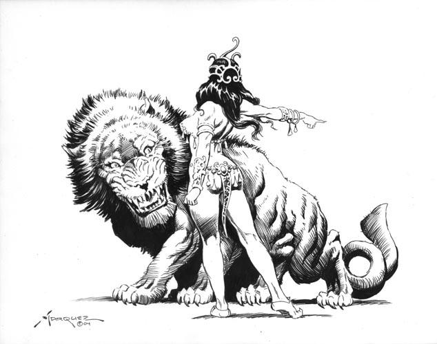 Thuvia Maid of Mars by Marquez Comic Art.jpg