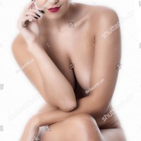 Nude Young Lady Sitting on a Stool